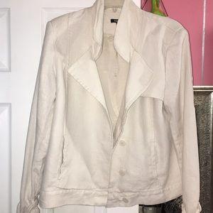 Light Cream Linen Blazer 12